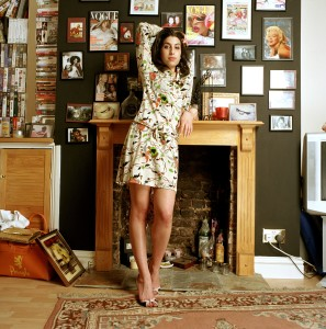D 32808-05  Amy Winehouse  CAMERA PRESS/Mark Okoh. Jazz and soul singer Amy Winehouse poses for photos at her home in Camden, London.  Her debut album 'Frank' won an  Ivor Novello award and was released in October 2003.     2004